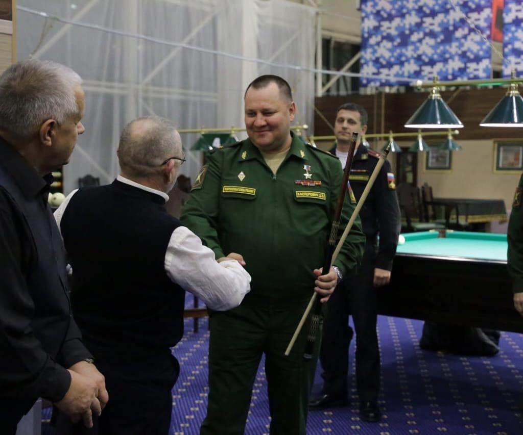 Первый кубок по бильярдному спорту ГОМУ Генерального штаба Вооруженных сил РФ в бильярдном клубе «Честь Имею»